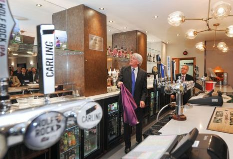 Andrew Mitchell MP opens Sir Doug Ellis Bar