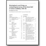 Sutton Green Belt Archaeology