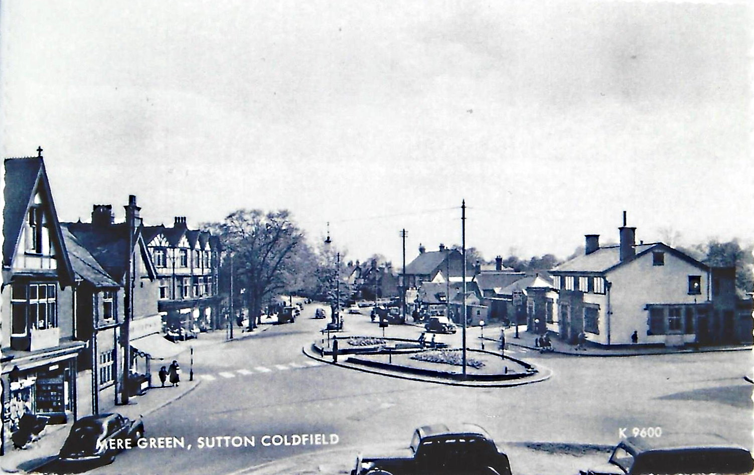 Mere Green Island looking towards Sutton Coldfield 1950s